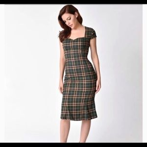 ModCloth Banned Dancing Days Plaid Wiggle Dress